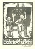 1931 GLÜCKLICHEN NEUJAHR FAMILIE ADOLF KUNST (odkaz v elektronickém katalogu)