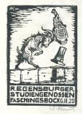REGENSBURGER STUDIENGENOSSEN FASCHINGSBOCK 6.II.29 (odkaz v elektronickém katalogu)