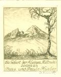Die Geburt der kleinen Hiltrudis zeigen an Franz und Paula Hueber (odkaz v elektronickém katalogu)