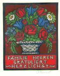 FAMILIE HEEREN GRATULIERT HERZLICHST (odkaz v elektronickém katalogu)