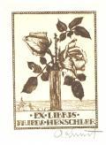 EX-LIBRIS FRIEDA HENSCHLER (odkaz v elektronickém katalogu)