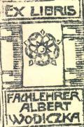 EX LIBRIS FACHLEHRER ALBERT WODICZKA (odkaz v elektronickém katalogu)