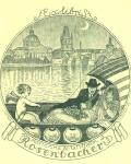Exlibris Marianne a Wilhelm Rosenbacher (odkaz v elektronickém katalogu)