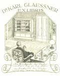 Dr. KARL GLAESSNER EX LIBRIS (odkaz v elektronickém katalogu)