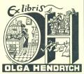 Ex libris OLGA HENDRYCH (odkaz v elektronickém katalogu)