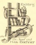 Exlibris Dr. Josef und Hilde Bachner (odkaz v elektronickém katalogu)