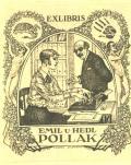 EXLIBRIS EMIL U. HEDL POLLAK (odkaz v elektronickém katalogu)