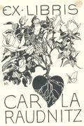 EX LIBRIS CARLA RAUDNITZ (odkaz v elektronickém katalogu)