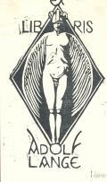 EXLIBRIS ADOLF LANGE (odkaz v elektronickém katalogu)