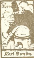 Exlibris Karl Bondy (odkaz v elektronickém katalogu)