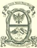 Ex libris Renée Mayr-Monti (odkaz v elektronickém katalogu)