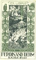 EX LIBRIS FERDINAND DEHM K.K. BAURAT (odkaz v elektronickém katalogu)