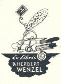 Ex Libris Dr. HERBERT WENZEL (odkaz v elektronickém katalogu)