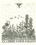 EX LIBRIS HANS MILLER (odkaz v elektronickém katalogu)