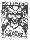 EXLIBRIS OSWALD PROBST (odkaz v elektronickém katalogu)