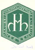 EX LIBRIS HANNS HERTHA HEEREN (odkaz v elektronickém katalogu)