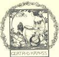 EX LIBRIS GERTRUD KRAUSS (odkaz v elektronickém katalogu)