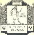 EX LIBRIS ELSE KRAUSS (odkaz v elektronickém katalogu)
