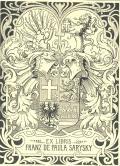 EX LIBRIS FRANZ DE PAULA SARYSKY (odkaz v elektronickém katalogu)
