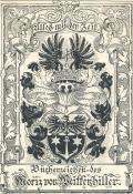 Bücherzeichen des Moriz von Weittenhiller (odkaz v elektronickém katalogu)