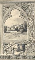 Exlibris Dris Max.Dobrschansky (odkaz v elektronickém katalogu)