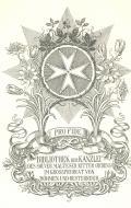 BIBLIOTHEK DER KANZLEI DES SOUVER. MALTESER RITTER ORDENS IM GROSSPRIORAT VON BÖHMEN UND ÖSTERREICH (odkaz v elektronickém katalogu)