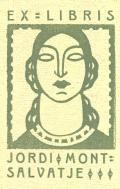 EX LIBRIS  JORDI MONTSALVATJE (odkaz v elektronickém katalogu)