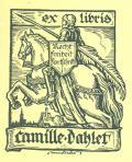 ex libris Camille Dahler (odkaz v elektronickém katalogu)