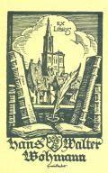 EX LIBRIS Hans Walter Wohmann (odkaz v elektronickém katalogu)