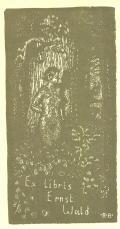 Ex libris Ernst Wald (odkaz v elektronickém katalogu)