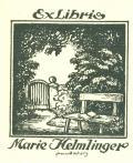 Exlibris Marie Helmlinger (odkaz v elektronickém katalogu)
