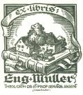 Ex libris Eug. Muller THEOL.CATH.DR.ET.PROF.SENATOR.ARGENT (odkaz v elektronickém katalogu)