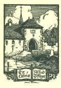 Exlibris Alfred Pfleger (odkaz v elektronickém katalogu)