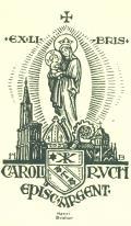 ex libris CAROLI RUCH episc.ARGENT (odkaz v elektronickém katalogu)