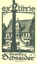 exlibris Camille Schneider (odkaz v elektronickém katalogu)