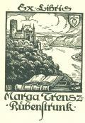 Ex Libris Marga Trensz-Rübenstrunk (odkaz v elektronickém katalogu)