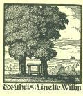 Exlibris Linette Willm (odkaz v elektronickém katalogu)