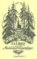 EX LIBRIS Madeleine Klingenhage (odkaz v elektronickém katalogu)
