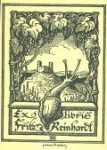 Exlibris Fritz Reinhardt (odkaz v elektronickém katalogu)