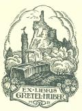EX LIBRIS GRETEL HUBER (odkaz v elektronickém katalogu)