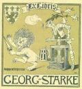 Ex Libris GEORGE STARKE (odkaz v elektronickém katalogu)