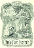 ex-libris Rudolf von Hoschek (odkaz v elektronickém katalogu)