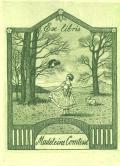 Ex libris Madeleine Comtesse (odkaz v elektronickém katalogu)