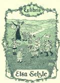 Ex libris Elsa Selzle (odkaz v elektronickém katalogu)