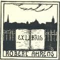 EX LIBRIS ROBERT AHRENS (odkaz v elektronickém katalogu)
