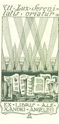 EX LIBRIS ALEXANDRI ANGELINI (odkaz v elektronickém katalogu)