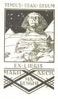 EX LIBRIS MARII ARCH. MARENGHI (odkaz v elektronickém katalogu)