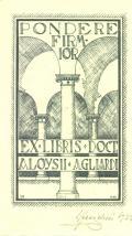 EX LIBRIS DOCT. ALOYSII AGLIARDI (odkaz v elektronickém katalogu)
