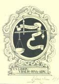 EX LIBRIS UBALDI RIVA ADV. (odkaz v elektronickém katalogu)