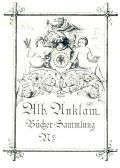 Alb. Anklam Bücher-Sammlung Nr. (odkaz v elektronickém katalogu)